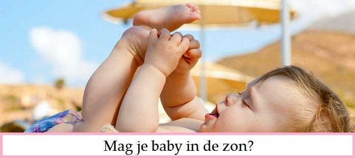 Mag een baby in de zon?