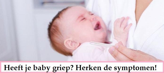 Heeft je baby griep? Herken de griepsymptomen bij je baby!